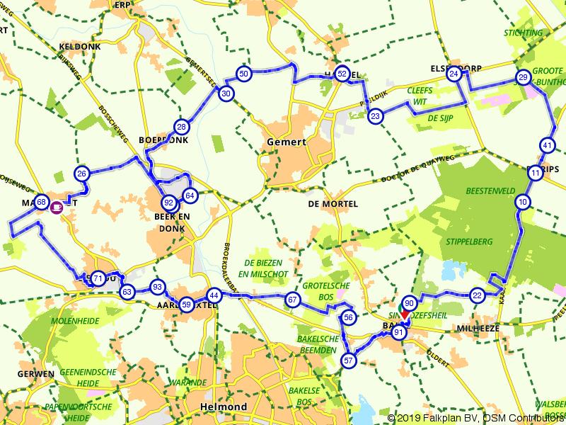 Door Brabantse bossen en dorpjes