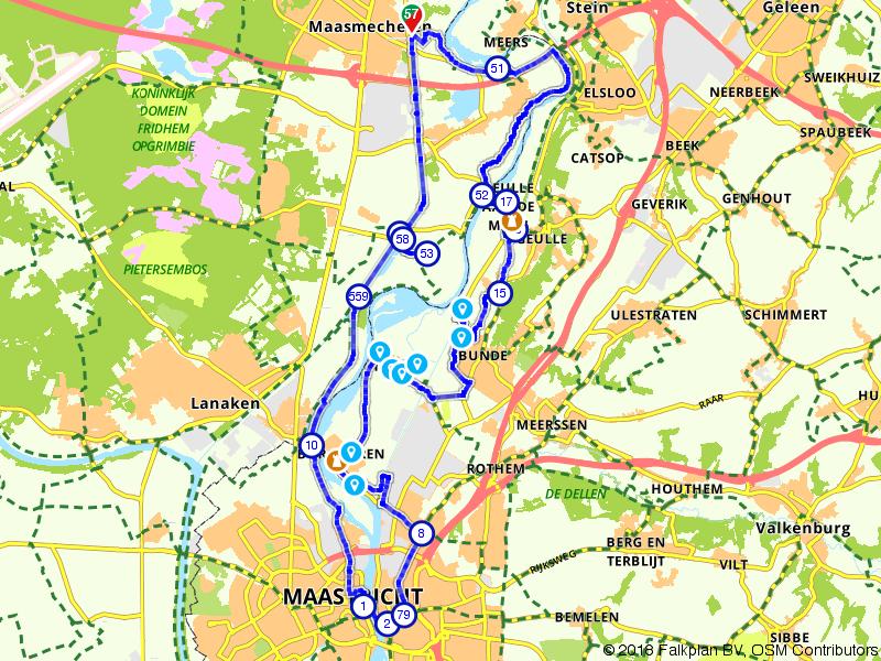 De Maas tussen Maasmechelen en Maastricht