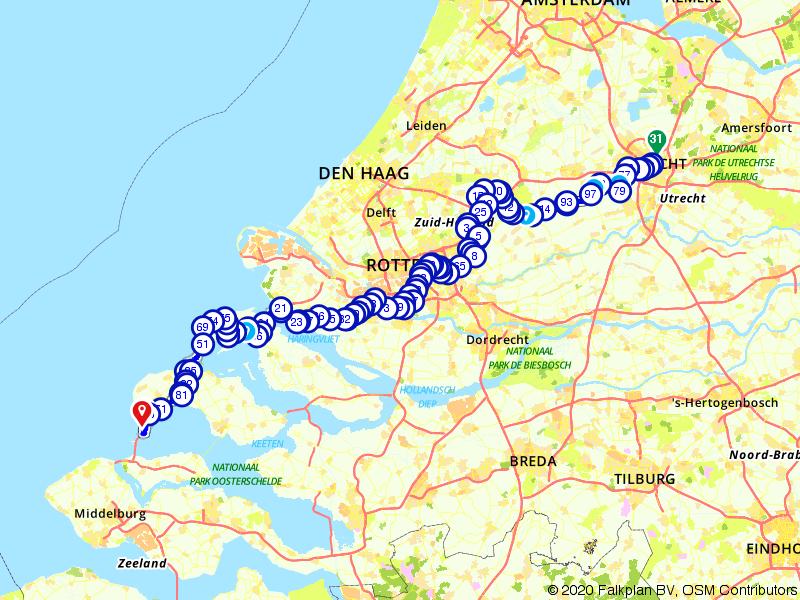 Utrecht-Zeeland Tourroute - 2e etappe Le Tour De France 2015