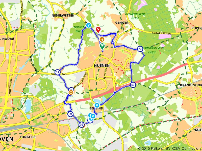 Schilderachtige route rondom Nuenen