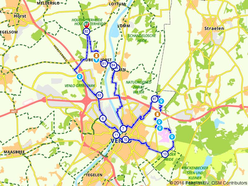 Langs de Maas naar Venlo