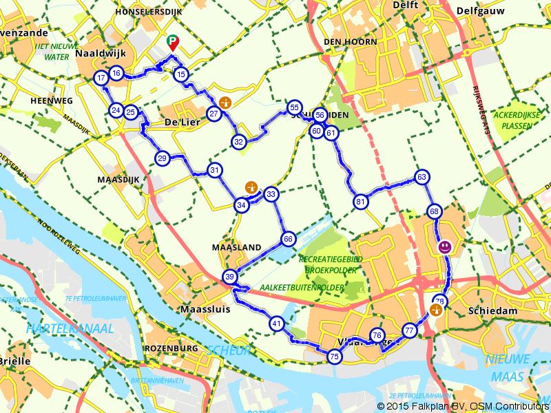 Door de natuur en het centrum van Schiedam