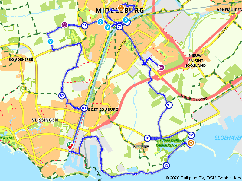 Van Vlissingen naar Middelburg