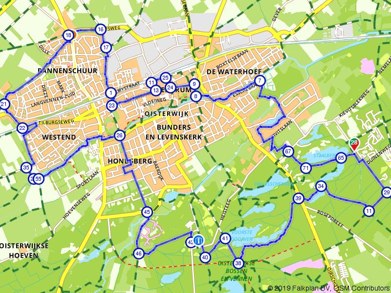 Wandeling door en rond Oisterwijk