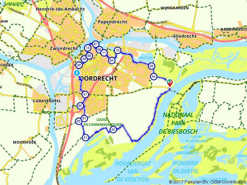Van stad naar natuur (van Dordrecht naar de Biesbosch)