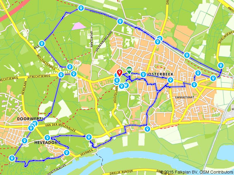 Airborne Wandeltocht - individuelen 15 km (blauw)
