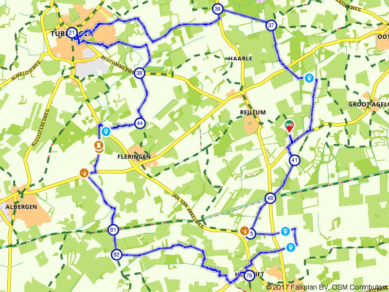 Fietsen in Twente, rondom Reutum