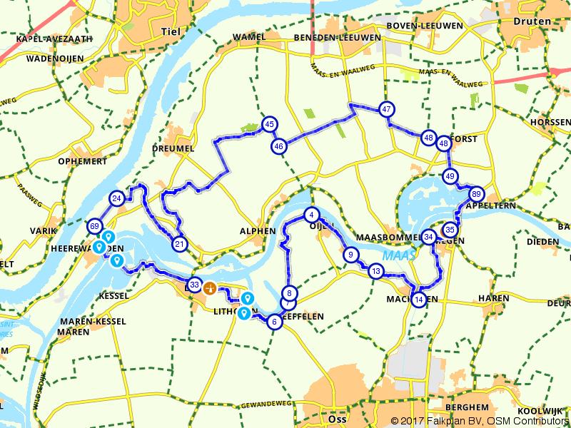 Fietsen door Het Land van Maas en Waal