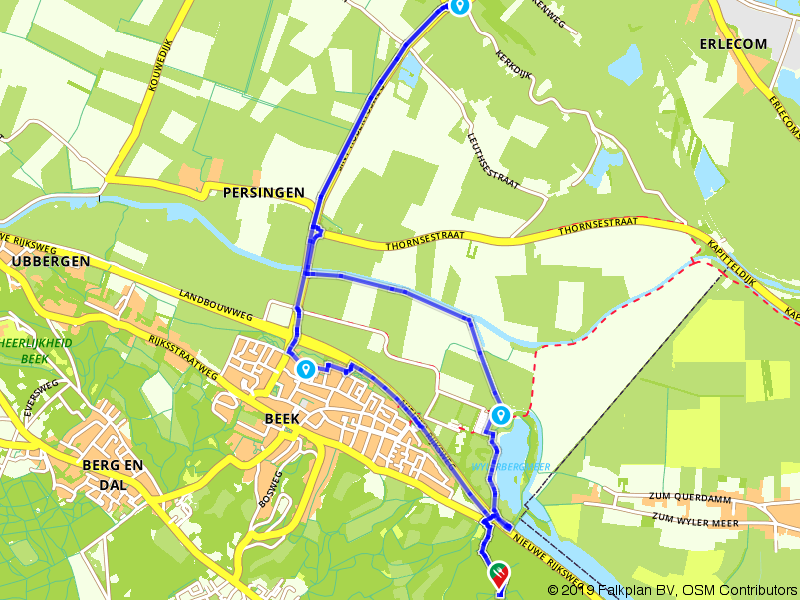 Door berg en dal bij Nijmegen