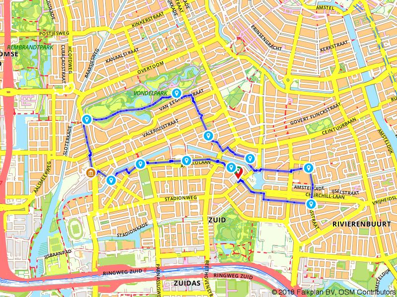Wandelen door het centrum van Amsterdam