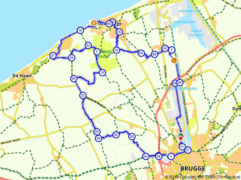 Van Brugge richting de kust