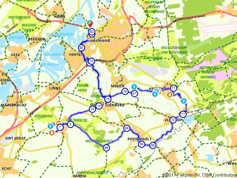 Liberation fietsroute Midden-Limburg