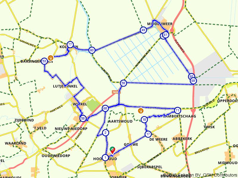 Fietsen door de polder in Wieringermeer