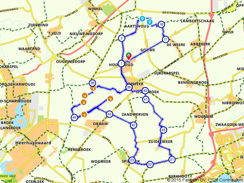 Poldermolenroute vanuit Hoogwoud