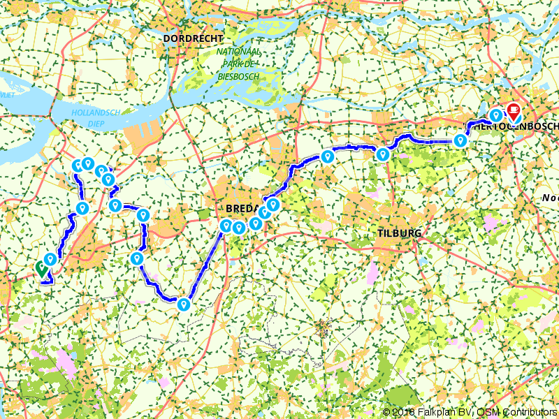4. Bergen op Zoom - Den Bosch - Amstel Radler, Tour de Hollande