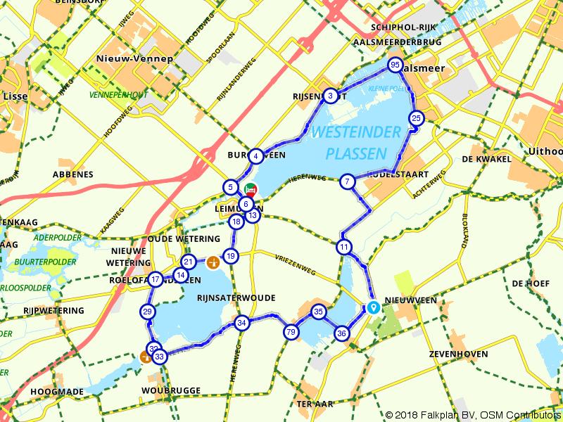 Fietsen langs de meertjes bij Leimuiden