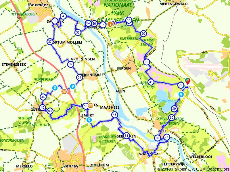 Via het Reindersmeer en door de natuur nabij Well
