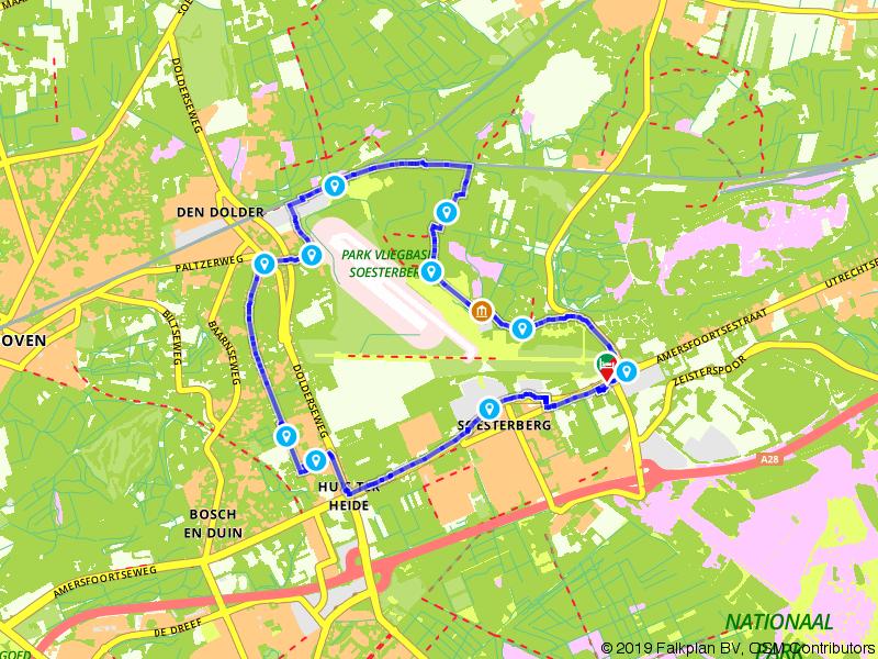 Wandelen rondom de historische Vliegbasis Soesterberg