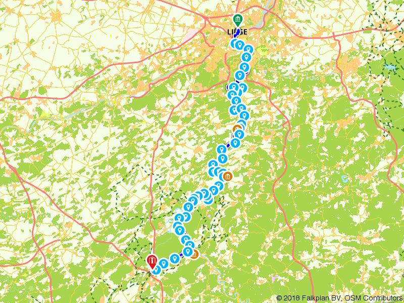 Door de Ourthevallei van de Belgische Ardennen