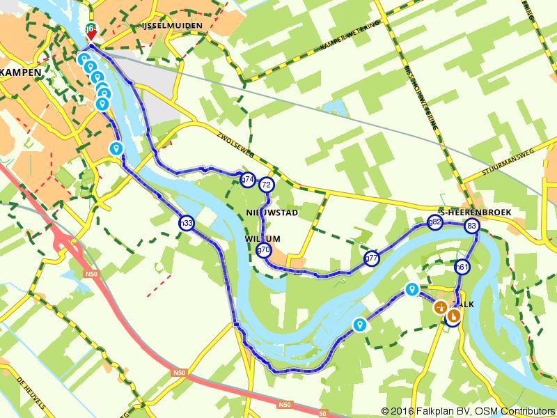 Wandelen langs de IJssel  tussen Kampen naar Zalk