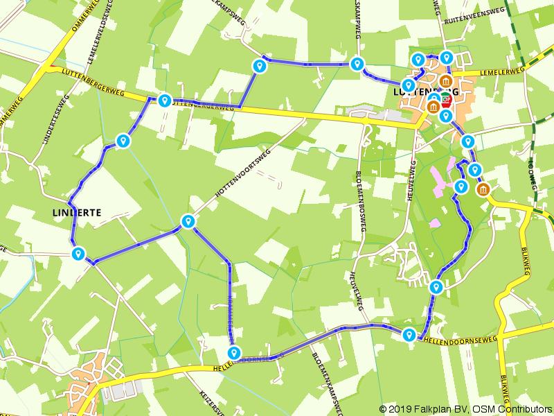 Wandelen in de omgeving rondom Luttenberg