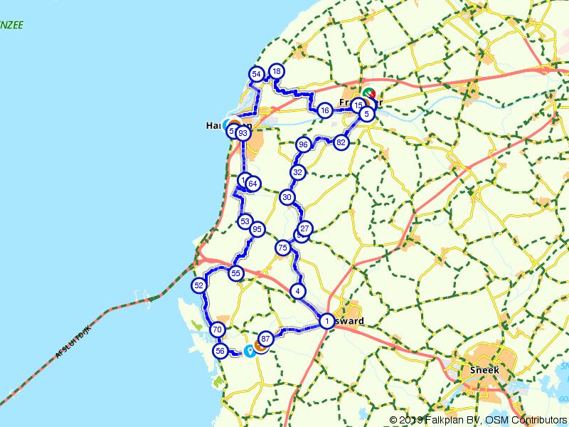 Fietsen door het westen van Friesland