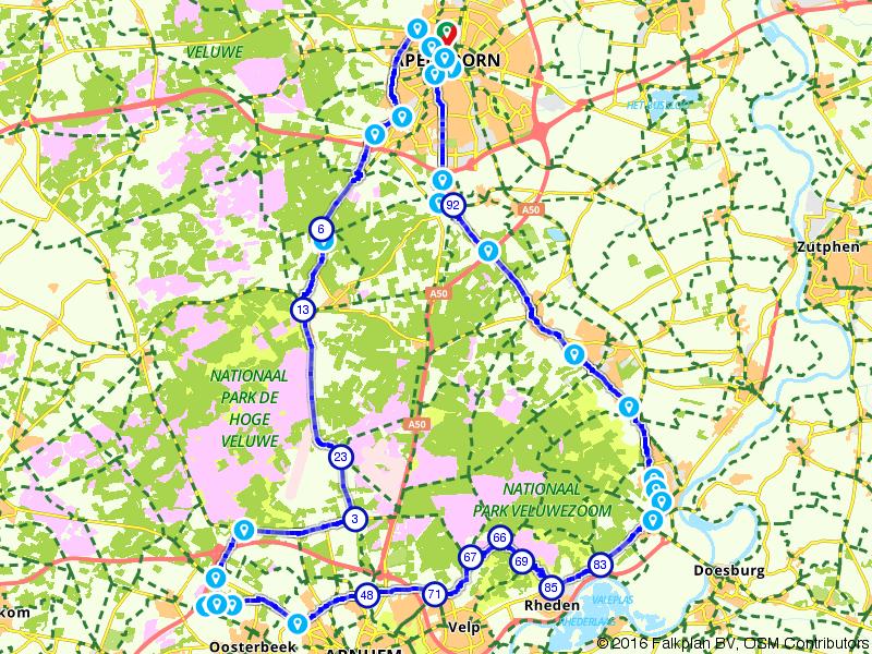 De Giro d'Italia in het klein op de route Rossa