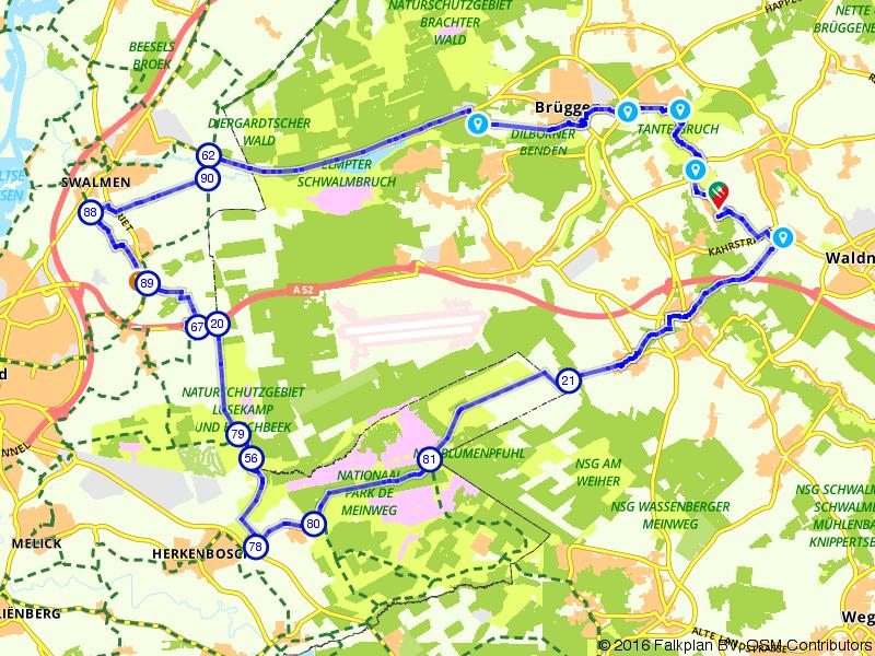 Fietsen door de bossen rondom Brüggen