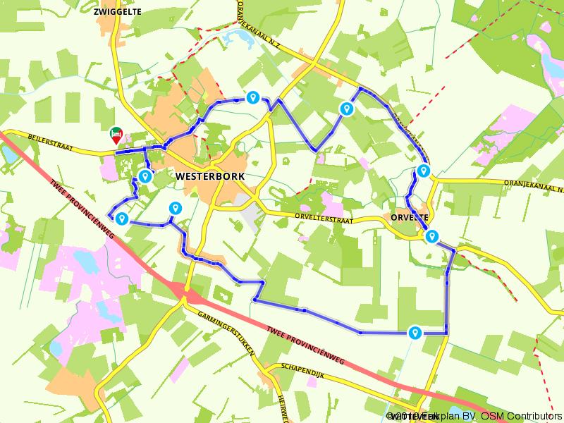 Van Westerbork naar Orvelte wandelen