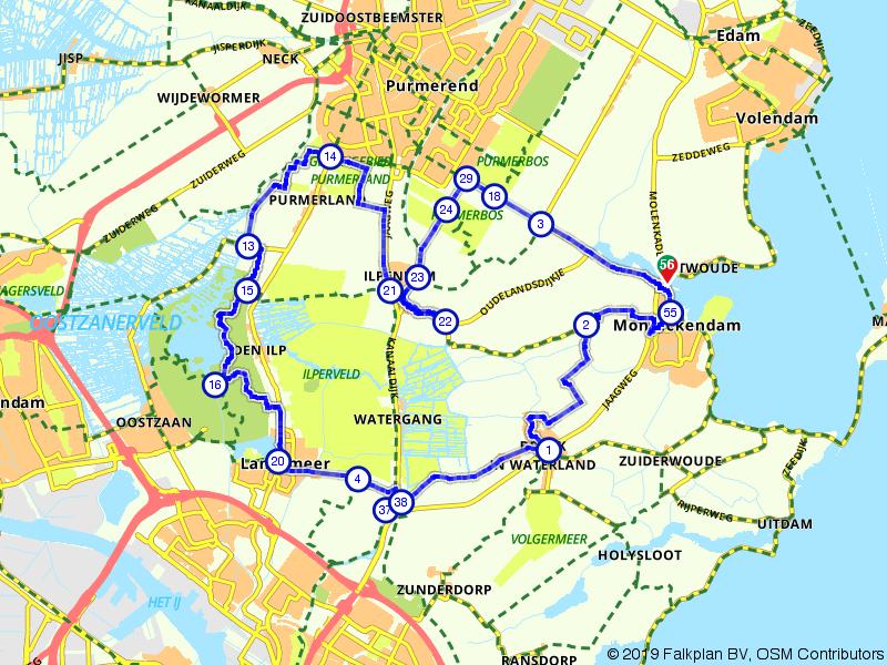 Vanuit Monnickendam het Waterland in.