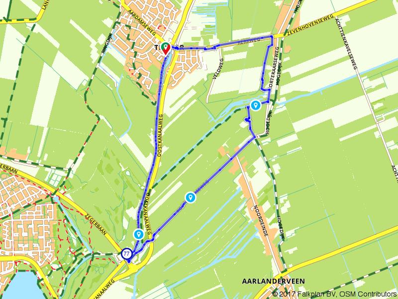 Wandelen bij Alphen aan den Rijn