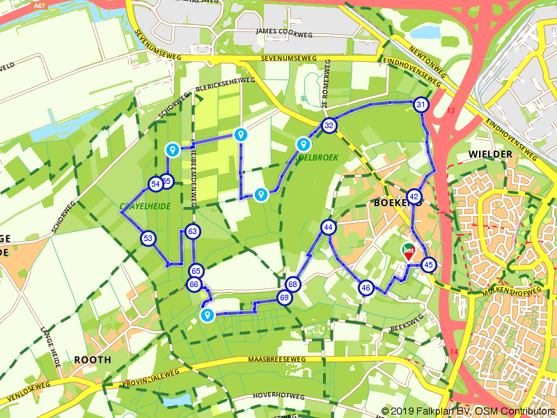 Wandelen door de groene long van Venlo