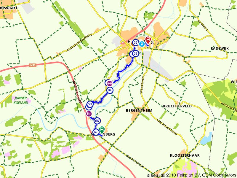 Blauwnet fietsroute Mariënberg-Hardenberg