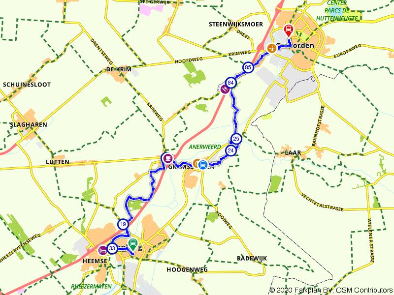 Blauwnet fietsroute Hardenberg-Gramsbergen-Coevorden