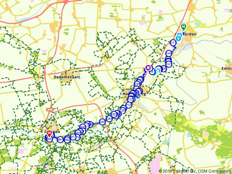 Blauwnet wandeling | Pieterpad Coevorden-Hardenberg-Ommen
