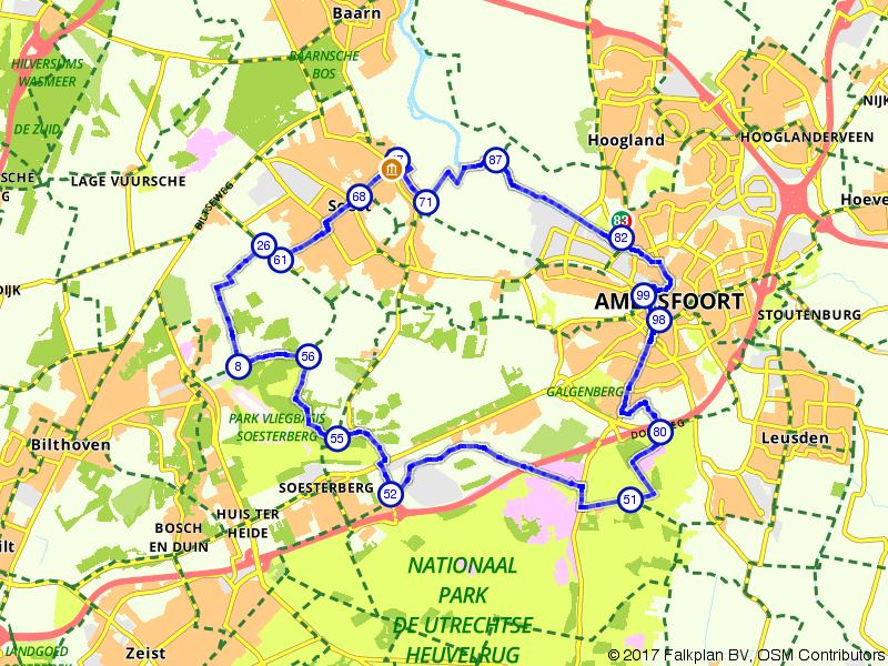 Vanuit Amersfoort de Utrechtse Heuvelrug op