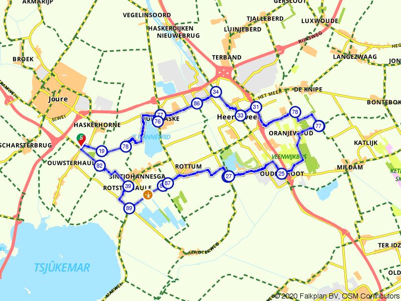Van St. Nicolaasga naar Heerenveen en terug