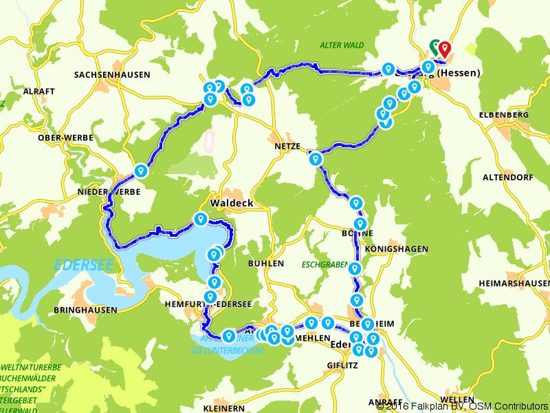 Naumburg-Edersee-Rundtour für E-Bikes - Region Kassel-Land e.V. -
