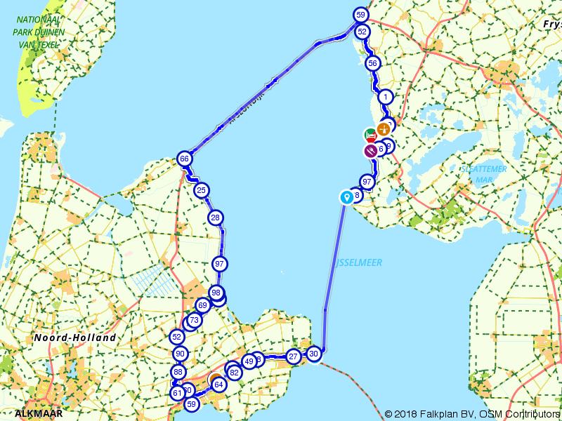 Fietsen rondom het IJsselmeer