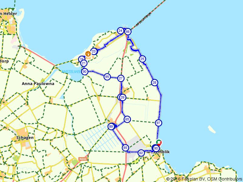 Fietsen door de top van Noord-Holland