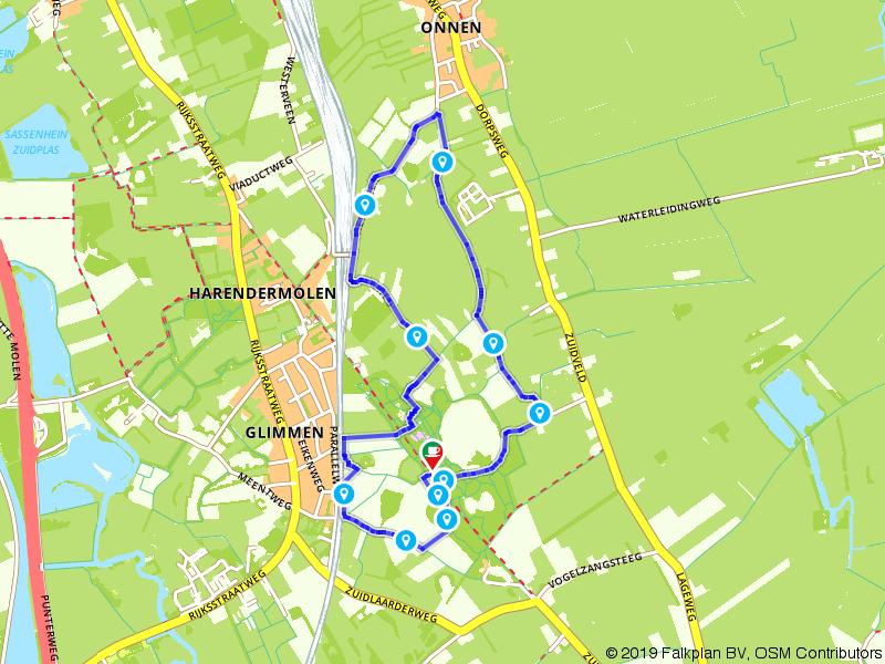 Wandelen in de omgeving van bosrijk Glimmen