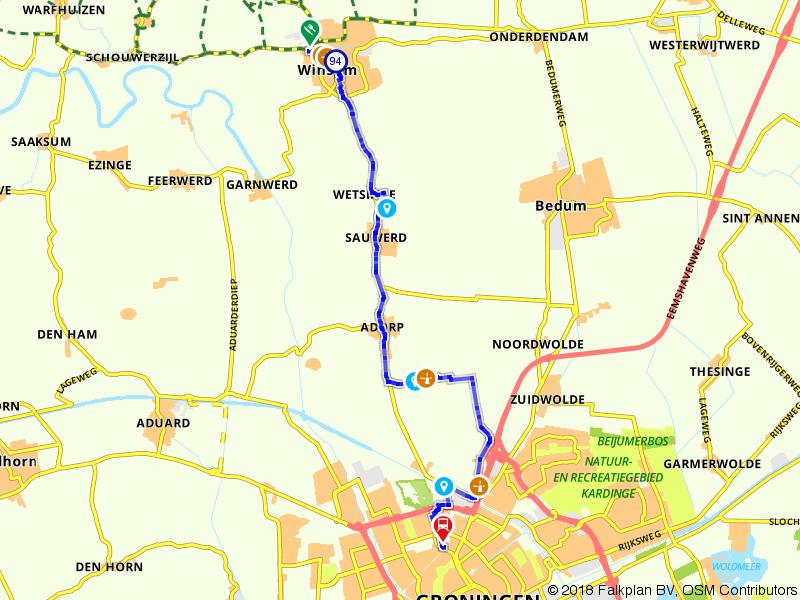 Wandelen van Winsum naar Groningen
