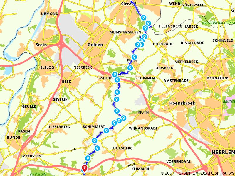De 25e etappe van het Pieterpad