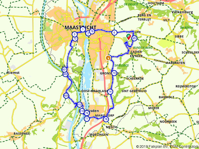 Op de fiets door Maastricht