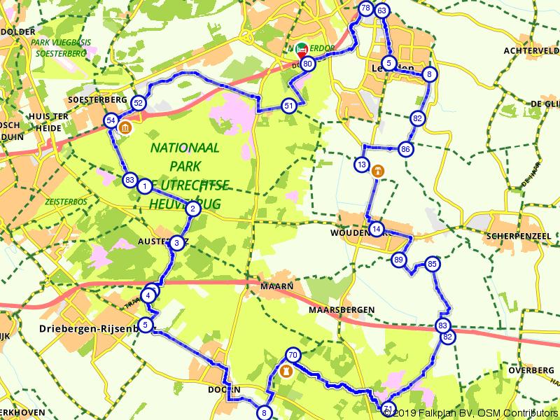 Een heerlijk lange tocht over de Utrechtse Heuvelrug
