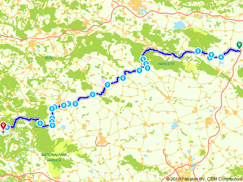 De Unstrut-Werra-Radweg