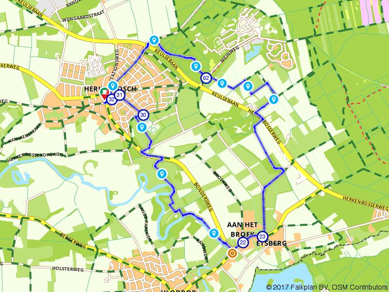 Wandelen langs Geluksplekken bij Herkenbosch