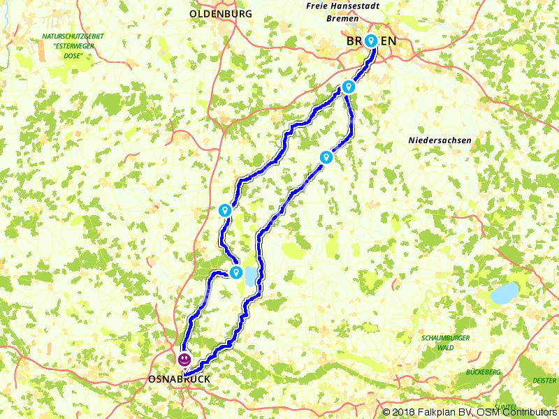 Brückenradweg Osnabrück - Bremen