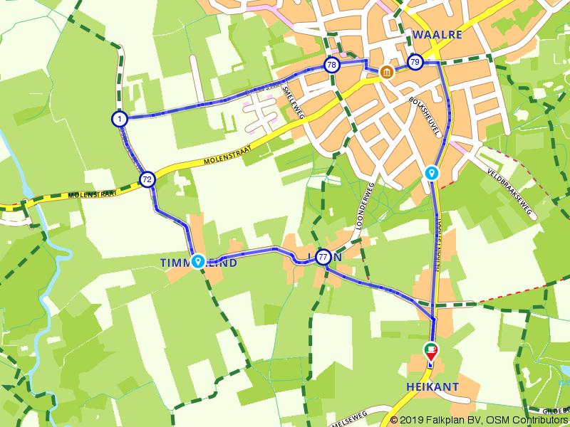 Luie zondag route door Waalre