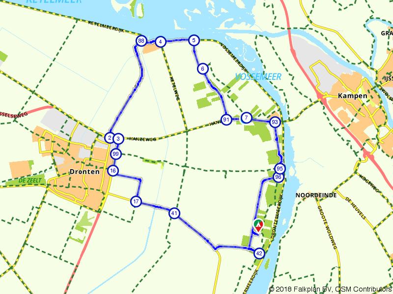 Langs bos en water in Flevoland